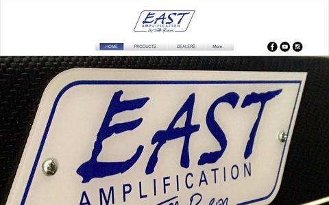 Screenshot of Home Page eastamplification.com - East-amplification|Jeff Bober|Boutique Amps - captured Dec. 27, 2017