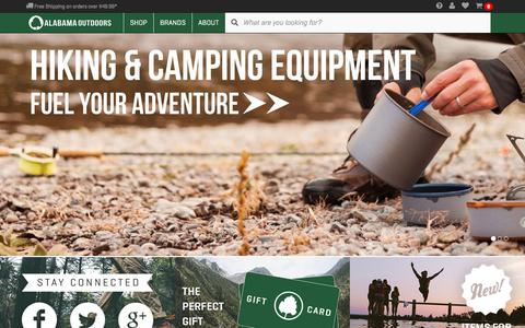 Screenshot of Home Page alabamaoutdoors.com - Outdoor Lifestyle Clothing & Gear Outfitter - Alabama Outdoors - captured Feb. 5, 2016