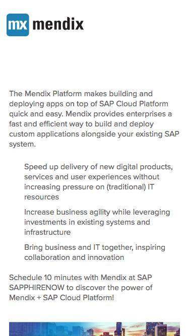 Visit Mendix at SAP SAPPHIRE