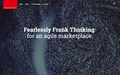 Screenshot of Team Page fearlesslyfrank.com - Fearlessly Frank | An Innovation Consultancy - captured Aug. 3, 2015