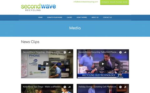 Screenshot of Press Page secondwaverecycling.com - SecondWave Recycling reviews news, interviews and press - captured July 27, 2018