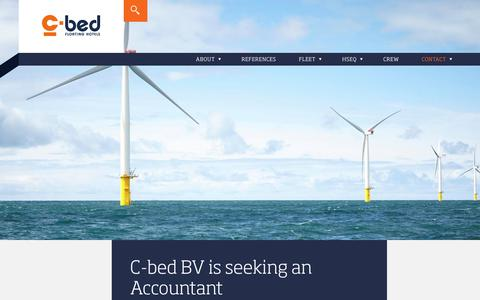 Screenshot of Jobs Page c-bed.nl - C-bed BV is seeking an Accountant | C-bed - captured July 6, 2017