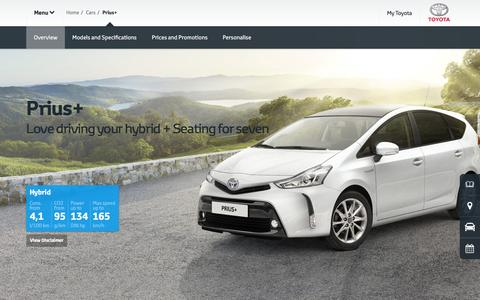 Toyota Prius+ Overview | A car that stands out | Toyota EU
