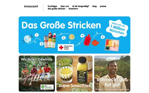 Screenshot of Home Page innocentdrinks.de - innocent – Obst zum Trinken - captured Feb. 19, 2016