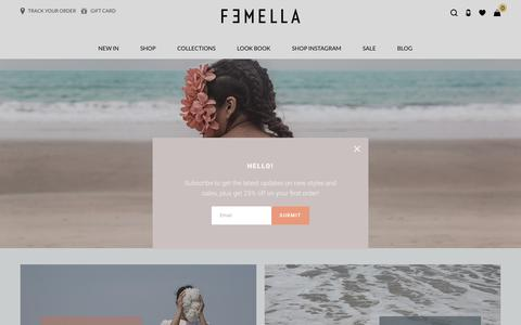 Screenshot of Home Page femella.in - Shop Latest Dresses and Tops Online from Femella. - captured June 5, 2017