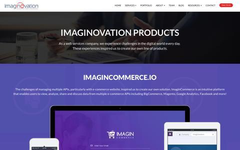 Screenshot of Products Page imaginovation.net - Products - Imaginovation - captured April 1, 2018