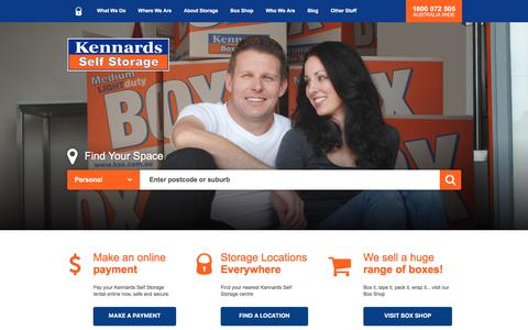 Screenshot of Home Page kss.com.au - Secure Self Storage Units, Spaces & Solutions | Kennards Self Storage - captured July 8, 2017