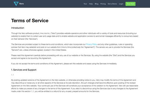 Terms of Service - Vero