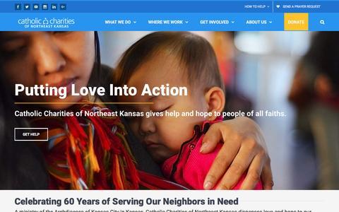 Screenshot of Home Page catholiccharitiesks.org - Home - Catholic Charities of Northeast Kansas - captured Oct. 27, 2016
