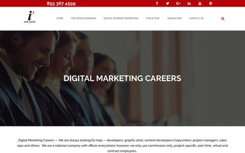 Screenshot of Jobs Page i5ww.com - Digital Marketing Careers Dallas | Digital Marketing Fort Worth Texas - captured Oct. 13, 2018