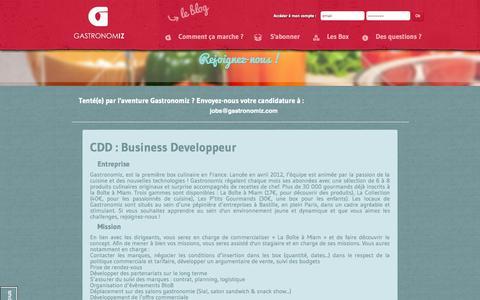 Screenshot of Jobs Page gastronomiz.com - jobs - Gastronomiz - captured Sept. 29, 2014