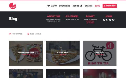 Screenshot of Blog dimospizza.com - Dimo's Pizza - captured Sept. 30, 2014