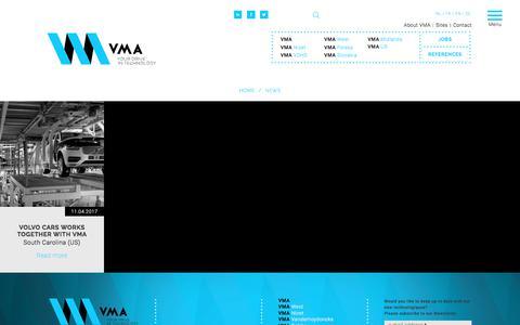 Screenshot of Press Page vma.be - News   VMA - captured Oct. 22, 2017