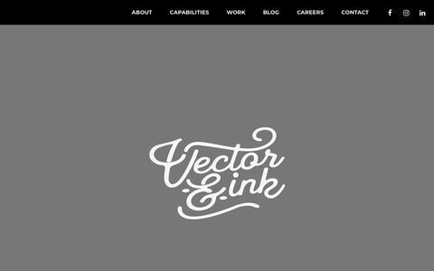 Screenshot of Home Page vectorandink.com - We inspire people to go places - Vector & Ink - captured July 21, 2019