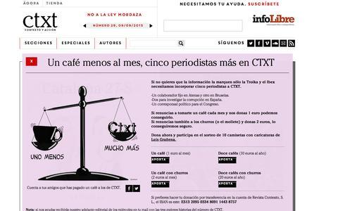Screenshot of Home Page ctxt.es - ctxt.es - captured Sept. 11, 2015