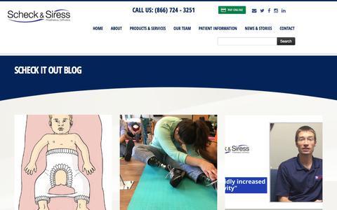 Screenshot of Blog scheckandsiress.com - Contact Us | Scheck & Siress - captured Sept. 30, 2017