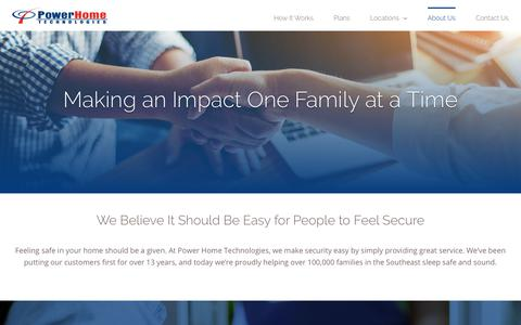 Screenshot of About Page pht.com - About Us | Power Home Technologies' Passionate Team - captured Sept. 29, 2018
