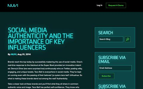 Screenshot of Blog About Page nuvi.com - NUVI Blog - captured Oct. 26, 2014
