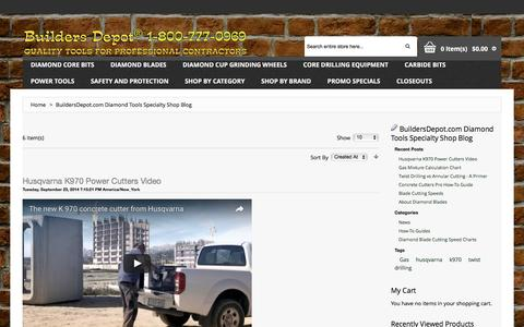 Screenshot of Press Page buildersdepot.com - Builders Depot® Diamond Core Drill Bits, Core Drill Rigs, Carbide Bits, Power Tools and more! - captured Nov. 23, 2016