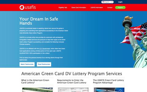 Screenshot of Home Page usafis.org - Guaranteed Usa Green Card Lottery Entry | USAFIS - captured June 16, 2017