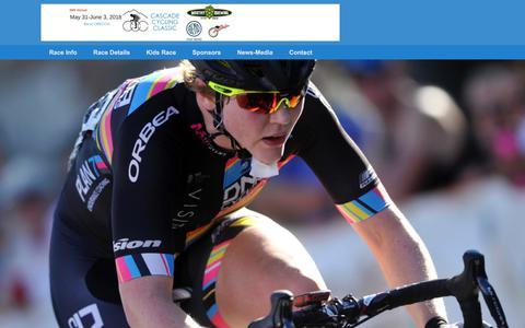 Screenshot of Home Page cascade-classic.org - Cascade Cycling Classic Presented by Regence BlueCross BlueShield of Oregon - captured Sept. 24, 2018