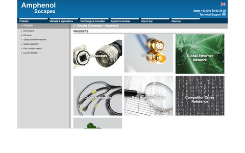 Screenshot of Products Page amphenol-socapex.com - Circular Connectors - Amphenol - captured Sept. 30, 2014