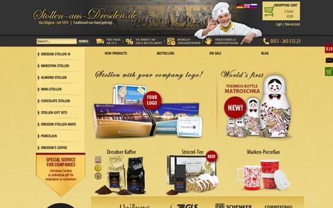 Screenshot of Home Page german-christmas-stollen.com - Original German Christmas Bread - order online - captured June 19, 2015
