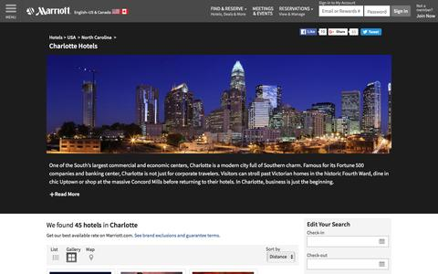 Find Charlotte Hotels by Marriott