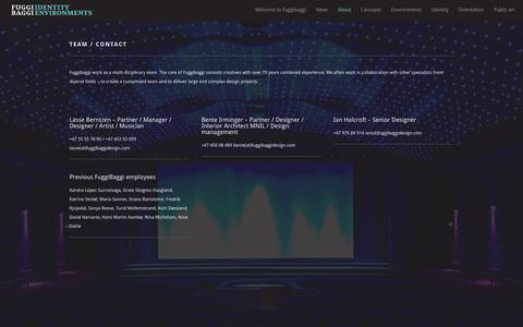 Screenshot of Team Page fuggibaggidesign.com - Team / Contact - FuggiBaggi - captured Oct. 6, 2014