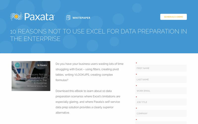 10 Reasons Not To Use Excel For Data Preparation In The Enterprise