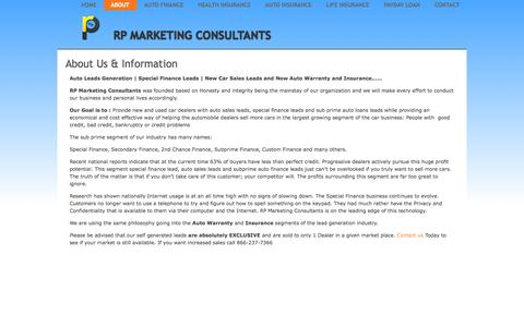 Screenshot of About Page rpmarketingconsultants.com - About Us & Information   RP Marketing Consultants - captured Oct. 7, 2014