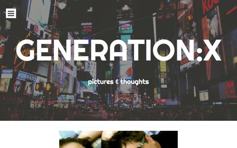 Screenshot of Home Page generationx.at - GENERATION:X | pictures & thoughts - captured Sept. 30, 2014