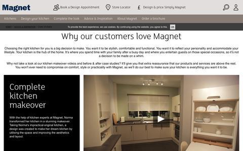 Screenshot of Case Studies Page magnet.co.uk - Case Studies - captured June 20, 2017