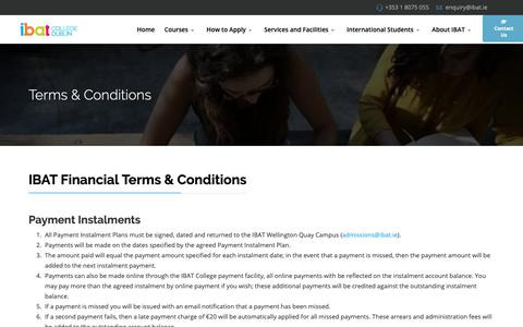 Screenshot of Terms Page ibat.ie - Terms and Conditions - captured Nov. 11, 2018