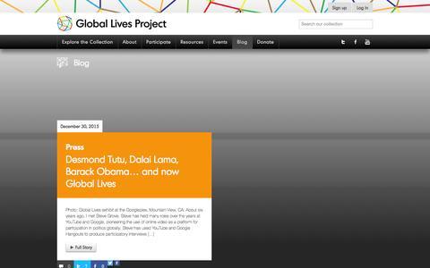 Screenshot of Blog globallives.org - Blog - Global Lives ProjectGlobal Lives Project - captured Jan. 29, 2016