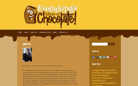 Screenshot of About Page everythingsmadeofchocolate.com - About Us | Everythings Made of Chocolate - captured Sept. 30, 2014