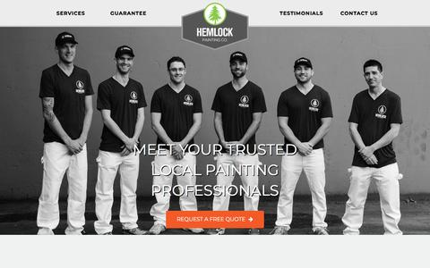 Screenshot of Home Page hemlockpainting.com - Interior Painting in Vancouver and Burnaby | Hemlock Painting - captured July 18, 2018