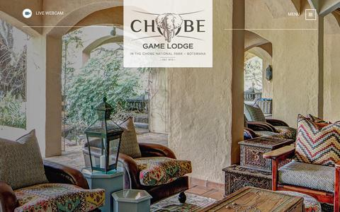 Screenshot of About Page chobegamelodge.com - About Chobe Game Lodge - Chobe Game Lodge - captured July 11, 2018