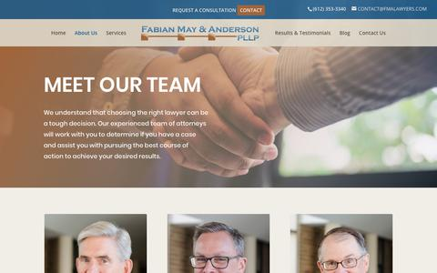 Screenshot of About Page fmalawyers.com - Read more about FMA Lawyers, located in Minneapolis, MN - captured Oct. 10, 2018