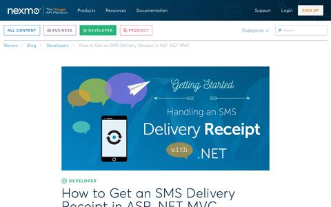 How to Get an SMS Delivery Receipt in ASP .NET MVC - Nexmo