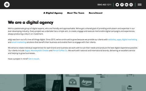 Screenshot of About Page adigi.co.uk - About adigi - Digital Agency | SEO Agency | Yorkshire | adigi - captured Oct. 9, 2017