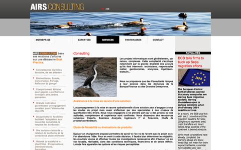 Screenshot of Services Page airs.ch - Airs Consulting - captured Nov. 19, 2016