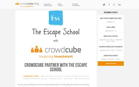 Screenshot of Blog crowdcube.es - The Crowdcube Blog - Giving you news and views about crowdfunding and Crowdcube - captured Sept. 19, 2014