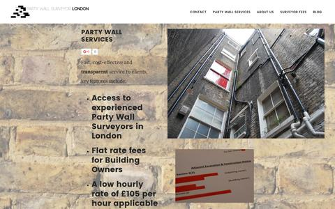 Screenshot of Home Page partywallsurveyor-london.co.uk - Party Wall Surveyor - London - Regulated by RICS - captured Oct. 7, 2016