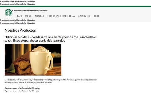 Menu List | Starbucks Coffee Company