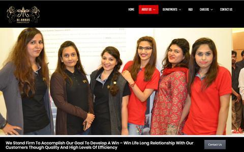 Screenshot of Team Page al-abbas.com - Our Team – Al-Abbas Fabrics - captured Oct. 3, 2018