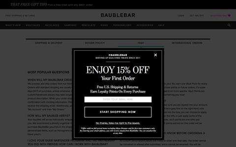 FAQ   BaubleBar