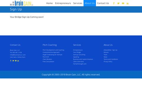 Screenshot of Signup Page braingainllc.com - BrainGainLLC |   Sign Up - captured Aug. 3, 2018