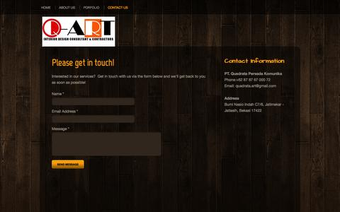 Screenshot of Contact Page webs.com - Interior Design Contractors - Contact Us - captured Oct. 27, 2014