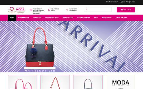 Screenshot of Home Page modahandbag.com - Moda Handbag -  Moda Handbag - Wholesalers of Handbags and Accessories - captured Sept. 24, 2018